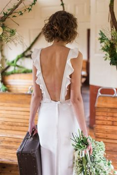 Designer Wedding Dresses, Bridal Dresses, Wedding Bride, Wedding Gowns, Backless Wedding, Honeymoon Dress, Style Outfits, Dress Rings, Playing Dress Up