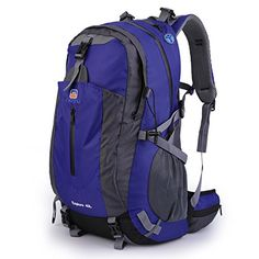 OUTAD Outdoor Camping Hiking Exploring 40L Backpack with Suspension System Blue ** You can find out more details at the link of the image.