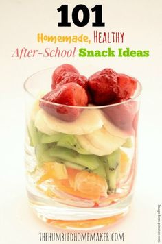 101 Homemade, Healthy After-School Snack Ideas - TheHumbledHomemaker.com