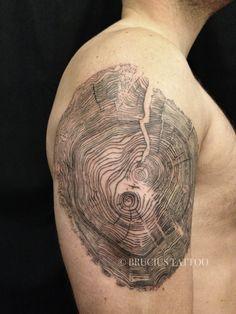 Amazing tree rings tattoo                                                       …