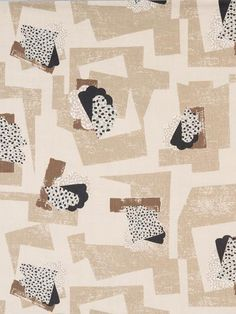 Paris Collage in Latte // Thomas Callaway for Holland & Sherry #textiles #fabric #linen #brown #neutral