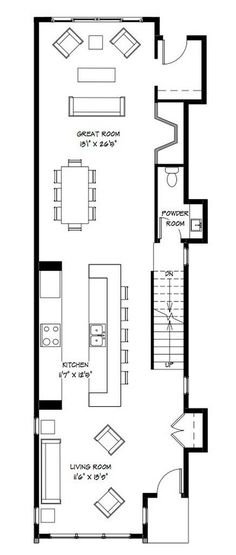 Planos casa dos pisos angosta y larga [Diseño] | Construye Hogar Narrow Lot House Plans, New House Plans, Modern House Plans, House Floor Plans, Apartment Plans, Small House Design, House Layouts, Architecture Plan, Plan Design