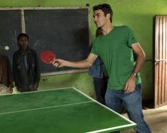 Roger Federer. Ping pong in Ethiopia, 2010.