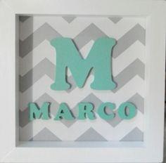 Cuadro, Cartel Con Inicial + Nombre. La Mejor Calidad ! - $ 210,00 en MercadoLibre