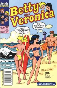 Betty and Veronica VF/NM Archie - save on shipping - details inside Archie Comics Strips, Archie Comic Books, Vintage Comic Books, Vintage Comics, Girl Cartoon, Cartoon Art, Archie Betty And Veronica, Archie Comics Riverdale, Comic Art Girls