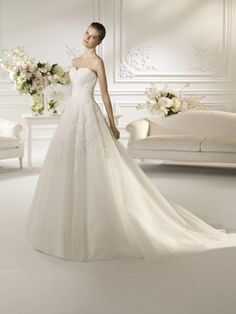 Soft and dreamy ball gown! more pics on blessed-brides.com