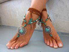Barefoot Sandals Barefoot Beach Jewelry  gemstones Hippie Sandals Foot Jewelry Toe Thong festival accessories for feet, yoga toe, anklet