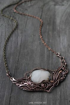 Agate pendant Wirewrapped necklace Copper necklace Wire wrap