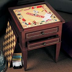 Will be looking for a table to make into this for the game room. Maybe a bit more colorful, though.