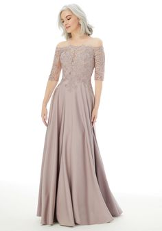 25718 - Available in blush and navy. This mother of the bride or groom gown is so elegant and flattering! Try this beauty on at Aurora Bridal in Melbourne, FL 321-254-3880 Manu Garcia, Bridal Reflections, Aisle Style, Mothers Dresses, Grooms Mother Dresses, Evening Dresses, Formal Dresses, Pageant Dresses, Prom Gowns