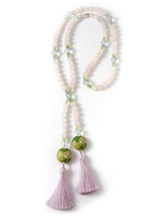 Pink Lotus Necklace #rosequartz #lotus #crystal #gemstone Lotus Necklace, Tassel Necklace, Necklaces, Pink Lotus, Heart Chakra, Rose Quartz, Gemstones, Crystals, Jewelry