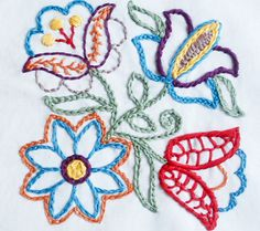 Bewitching Botanicals Hot-Iron Transfer Embroidery Pattern