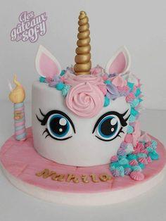 Broccoli and coconut cake - Clean Eating Snacks Unicorn Birthday Parties, Unicorn Party, Birthday Cake, Unicorne Cake, No Bake Cake, Fondant Cakes, Cupcake Cakes, Fete Audrey, Unicorn Cake Design
