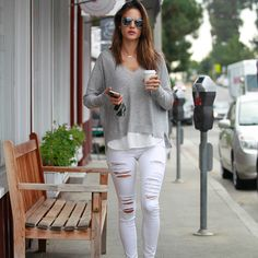 You'll Totally Want to Copy Alessandra Ambrosio's Cool and Comfy Look:
