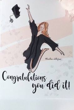 Drawing of graduate jumping. Congratulations Graduate, Congratulations Quotes Achievement, Achievement Quotes, Great Quotes, Inspirational Quotes, Lds Quotes, Rose Hill Designs, Graduation Quotes, Graduation Pictures