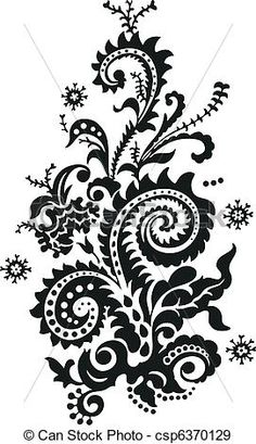 Vector - Paisley Floral Design - stock illustration, royalty free illustrations, stock clip art icon, stock clipart icons, logo, line art, EPS picture, pictures, graphic, graphics, drawing, drawings, vector image, artwork, EPS vector art
