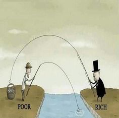 The poor and the rich, fishing