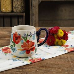 The Pioneer Woman Spring Bouquet 19oz Mug