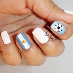 Argentina World Cup 2014 Nails. Soccer nails