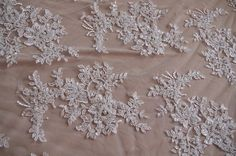 luxury bead lace fabric bridal cord lace fabric super by LaceFun