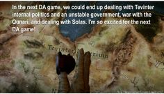 I so want this!!!! I love the politics of Dragon Age it\'s awesome and I want to experience the culture of Tevinter.