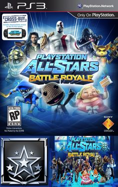 """PLAYSTATION® ALL-STARS BATTLE ROYALE (PS3) Platinum Trophy: """"All-Star Legend - You've Only Done Everything"""""""