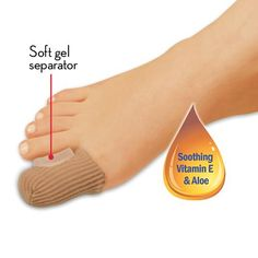 GEL TOE PROTECTOR WITH SPREADER SET OF 2 | Better Senior Living #FootCare Foot Pain Relief, Gel Toes, Senior Living, Feet Care, Foot Care