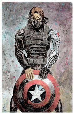 Winter Soldier Captain America MARVEL 11x17 Signed Print by Gary Shipman