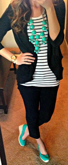 black blazer: well-fitted, not too stiff, not too boxy, no shoulder pads-for work