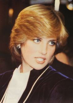 November 18, 1981: Princess Diana switches on the Christmas lights at Austin Reeds in Regent Street.