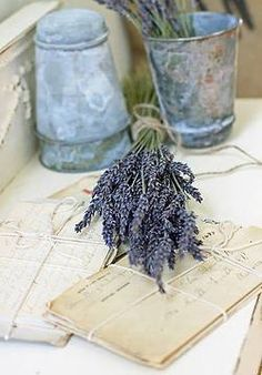 Lavender:  #Lavender and letters.