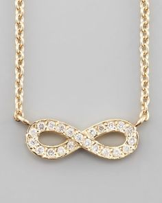 14k Gold Diamond Infinity Pendant Necklace by Sydney Evan at Neiman Marcus.