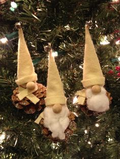 winter solstice craft pine cone gnome ornaments for the