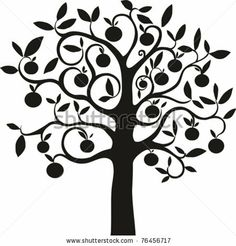 Orange tree vector idea. Much more intricate and elegant than the current orange tree logo