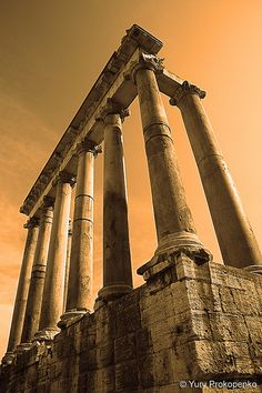 Temple of Saturn. Beautiful colors in this picture.
