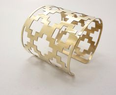 Persian lattice narrow cuff by SobeitStudio on Etsy