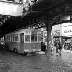 The #3 trolley at Frankford and Orthodox, 1950