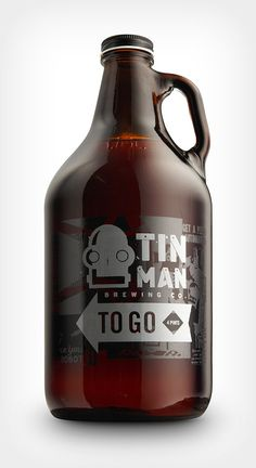 Interesting bottle/packaging design for Tin Man Brewing Co.  http://www.melodicvirtue.com/design/packaging/123 #graphic design #branding #packaging #design #beer
