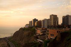 Sunset on the waterfront (Lima, Peru)
