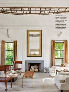 Michael Bruno's Chic Home in the Hamptons- love all the contemporary elements- but still creating an essentially classic, traditional space! Windsor Smith Design