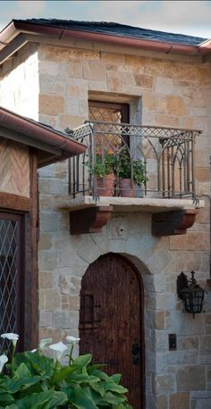 Tuscan style entry with faux balcony...