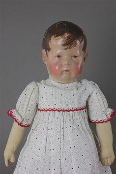 "17'' KATHE KRUSE CLOTH ""DOLL I"" - by Apple Tree Auction Center"