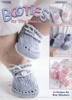 Baby Booties Crochet Patterns - 12 Adorable Designs