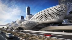 King Abdullah Financial District Metro Station in Riyadh. Zaha Hadid Architects