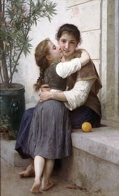 Bouguereau A little Coaxing Oil on canvas 145x91 cm 1890 private collection  http://www.artrenewal.org/pages/artist.php?artistid=7&page=14