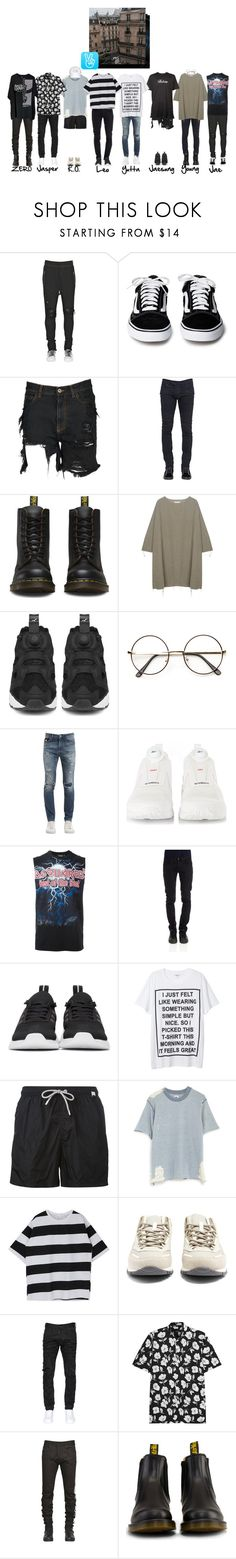 """""""Onyx's First V Live"""" by onyxofficial ❤ liked on Polyvore featuring AMIRI, Faith Connexion, Balmain, Dr. Martens, BLACK CRANE, Mastermind, Reebok, ZeroUV, John Richmond and Dsquared2"""