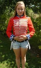 THEATRE PANTOMIME CARNIVAL FANCY DRESS 1700s RED SOLDIER TAIL JACKET