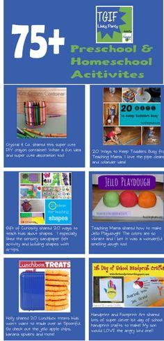 75 #preschool and #homeschool Activities in each weekly linky party!