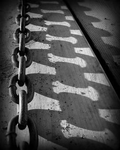 Chain Shadow - Photography by Perry Webster Photography Ideas At Home, Shadow Photography, Pattern Photography, Love Photography, Walter Van Beirendonck, Shadow Photos, Broken Window, Mind Body Soul, Light And Shadow