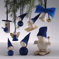 Blue Christmas decorations by Aarikka Norway Christmas, Blue Christmas Decor, Swedish Christmas, Christmas Makes, Scandinavian Christmas, Christmas Design, Christmas Holidays, Christmas Decorations, Advent
